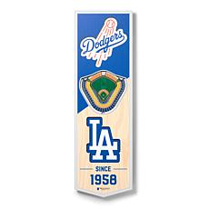 "Officially Licensed MLB 6 x 19"" 3D Stadium Banner- Los Angeles Dodg..."