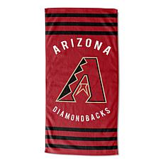 Officially Licensed MLB 620  Stripes Beach Towel - Diamondbacks