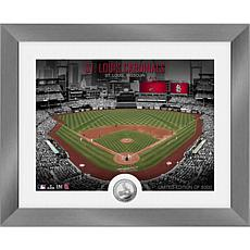 Officially Licensed MLB Art Deco Silver Coin Photo Mint - St. Louis