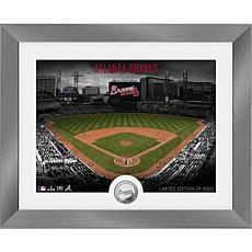 Officially Licensed MLB Art Deco Silver Coin Photo Mint - Atlanta
