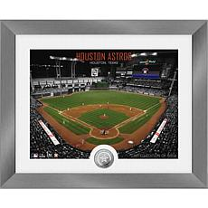 Officially Licensed MLB Art Deco Silver Coin Photo Mint - Houston