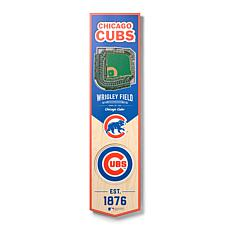 Officially Licensed MLB Chicago Cubs 3D Stadium Banner