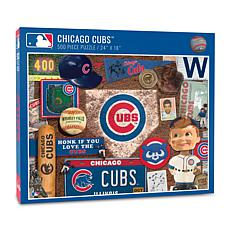 Officially Licensed MLB Chicago Cubs Retro Series 500-Piece Puzzle