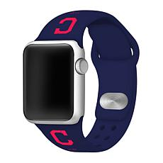 Officially Licensed MLB Cleveland Indians Apple Watchband - 42mm/44mm