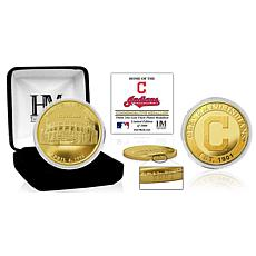 Officially Licensed MLB Cleveland Indians Stadium Gold Mint Coin