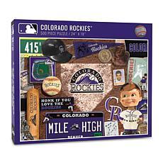 Officially Licensed MLB Colorado Rockies Retro Series 500-Piece Puzzle