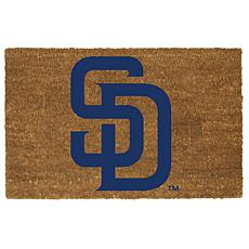 Officially Licensed MLB Colored Logo Door Mat - Padres