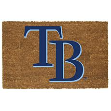 Officially Licensed MLB Colored Logo Door Mat - Rays