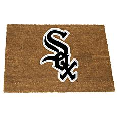 Officially Licensed MLB Colored Logo Door Mat - White Sox