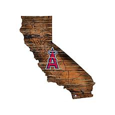 Officially Licensed MLB Distressed State Map with Logo