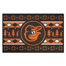 Officially Licensed MLB Holiday Sweater Mat - Baltimore Orioles