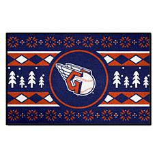 Officially Licensed MLB Holiday Sweater Mat - Cleveland Indians