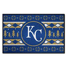 Officially Licensed MLB Holiday Sweater Mat - Kansas City Royals