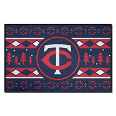 Officially Licensed MLB Holiday Sweater Mat - Minnesota Twins