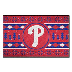 Officially Licensed MLB Holiday Sweater Mat - Philadelphia Phillies
