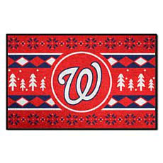 Officially Licensed MLB Holiday Sweater Mat - Washington Nationals
