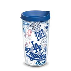 Officially Licensed MLB LA Dodgers All Over 16 oz. Tumbler w/Lid