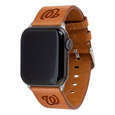 Officially Licensed MLB Leather Band Compatible With Apple Watch-Wash.