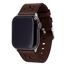 Officially Licensed MLB Leather Band for Apple Watch 38/40mm-Royals