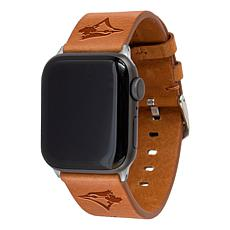 Officially Licensed MLB Leather Band for Apple Watch-Toronto Blue Jays