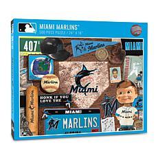 Officially Licensed MLB Miami Marlins Retro 500-Piece Puzzle