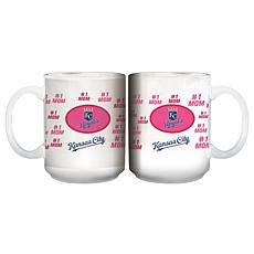 """Officially Licensed MLB """"Mom"""" White Mug - Royals"""
