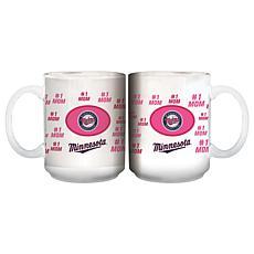 "Officially Licensed MLB ""Mom"" White Mug - Twins"