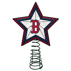 Officially Licensed MLB Mosaic Tree Topper - Red Sox