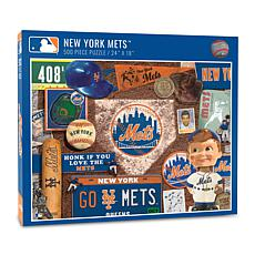 Officially Licensed MLB New York Mets Retro Series 500-Piece Puzzle