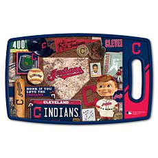 Officially Licensed MLB Retro Series Cutting Board - Cleveland Indians
