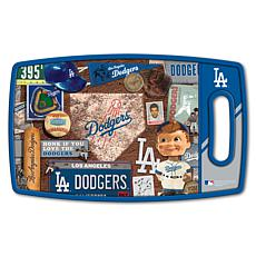 Officially Licensed MLB Retro Series Cutting Board - LA. Dodgers