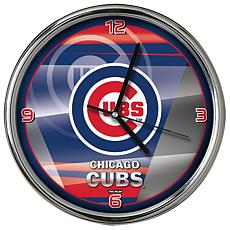 Officially Licensed MLB Shadow Chrome Clock - Cubs