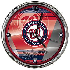 Officially Licensed MLB Shadow Chrome Clock - Nationals