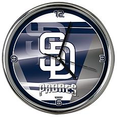 Officially Licensed MLB Shadow Chrome Clock - Padres