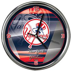 Officially Licensed MLB Shadow Chrome Clock - Yankees