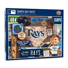 Officially Licensed MLB Tampa Bay Rays Retro Series 500-Piece Puzzle