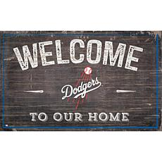 Officially Licensed MLB Welcome to our Home Sign - Los Angeles Dodgers