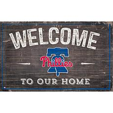 Officially Licensed MLB Welcome to our Home Sign - Phila. Phillies