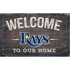 Officially Licensed MLB Welcome to our Home Sign - Tampa Bay Rays