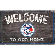 Officially Licensed MLB Welcome to our Home Sign - Toronto Blue Jays