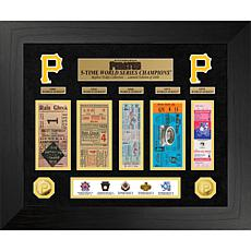 Officially Licensed MLB WS Gold Coin & Ticket Collection - Pittsburgh