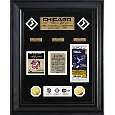 Officially Licensed MLB WS Gold Coin & Ticket Collection - White Sox
