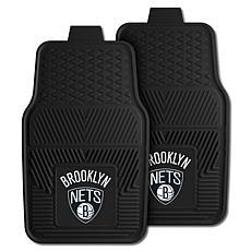 "Officially Licensed NBA 2pc Car Mat Set 17"" x 27"" - Brooklyn Nets"