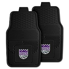"Officially Licensed NBA 2pc Car Mat Set 17"" x 27"" - Sacramento Kings"