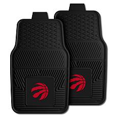 "Officially Licensed NBA 2pc Car Mat Set 17"" x 27"" - Toronto Raptors"