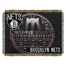"""Officially Licensed NBA 48"""" x 60"""" Sewer Cap Throw - Brooklyn Nets"""