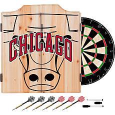 Officially Licensed NBA Dart Cabinet Set - Fade - Chicago Bulls