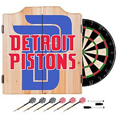 Officially Licensed NBA Dart Cabinet Set - Fade - Detroit Pistons