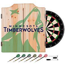 Officially Licensed NBA Dart Cabinet Set- Fade- Minnesota Timberwol...