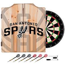 Officially Licensed NBA Dart Cabinet Set - Fade - San Antonio Spurs